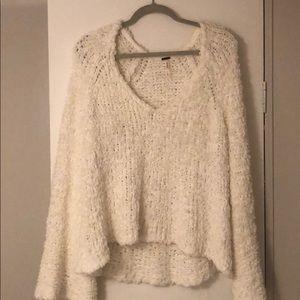 White free people sweater, size Large.